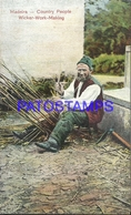 110218 PORTUGAL MADEIRA FUNCHAL COSTUMES WICKER WORK MAKING COUNTRY POSTAL POSTCARD - Portugal