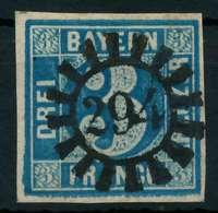 BAYERN QUADRATE Nr 2II GMR 294 Zentrisch Gestempelt X8805F6 - Bavaria