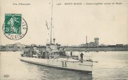 """CPA FRANCE 35 """"Saint Malo, Contre Torpilleur Sortant Du Bassin"""" - Saint Malo"""