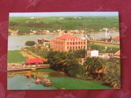 "Vietnam 2006 Postcard ""Nha Rong Harbor - Ho Chi Minh Ville - Trucks - Ships"" Nha Trang To England - Flowers - Vietnam"
