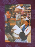 "Vietnam 2010 Postcard ""conial Hats Making Trade - Ha Tay"" Mui Ne To Germany - Flowers - Vietnam"