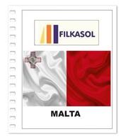 Suplemento Filkasol Malta 2018 - Ilustrado Para Album 15 Anillas - Pre-Impresas