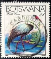 Bird, Wattle Crane, Botswana Stamp SC#329 Used - Botswana (1966-...)