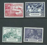 Sarawak 1949 UPU Set 4 Fresh Mint - Sarawak (...-1963)