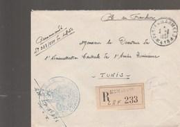 LETTRE FM REC BPM 418 - COMMANDANT SP 51256 - POUR DIRECTEUR L A.C.A.T - TUNIS - Marcophilie (Lettres)