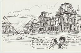 CP - LA BOUGIE DU SAPEUR 1984 - 5 - MITTERAND - LANG - C'EST VRAI DANS CE SENS LA CA FAIT MOINS PHARAON- PYRAMIDE LOUVRE - Humour