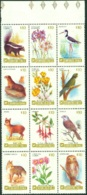 CHILE 1985 FLORA AND FAUNA BLOCK OF 12** (MNH) - Chile