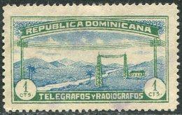 TELEGRAPH Dominicana 1920 Dominican Republic 1 Cts Perf. 11,5 Telegrafos Y Radiografos Télégraphe République Dominicaine - Dominican Republic