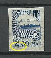 ESTLAND ESTONIA 1920 Michel 28 + ERROR Variety Abart O - Estonia