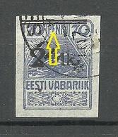 Estland Estonia 1919 Michel 20 Abart ERROR Variety OPT Nach Oben Verschoben O - Estland