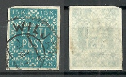ESTLAND Estonia 1919 Michel 2 Rare Color Hurt & Ojaste B: 1 Schieferblau (slate Blue ) O - Estonie