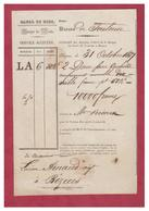 FRANCE -- BARQUE DE POSTE -- BARQUE DE TOULOUSE A BEZIERS -- CANAL DU MIDI -- 1837 --- - 1800 – 1899