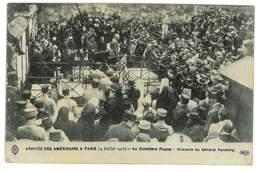 CPA GUERRE 1914 ARRIVEE DES AMERICAINS A PARIS AU CIMETIERE PICPUS DISCOURS DU GENERAL PERSHING - Weltkrieg 1914-18