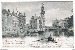 AMSTERDAM:  GROET  UIT  .... -  SINGEL  MET  MUNT  -  FALTE  DX. -  NACH  FRANCE  -  FP  -  RR - Amsterdam