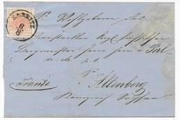ÖSTERREICH - FALTBRIEF  MIT Mi Nr. 3  VON KARBITZ (HEUTE CHABAROVICE TSCHECHIEN)  NACH ALTENBERG - 1850-1918 Imperium
