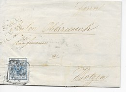 ÖSTERREICH - FALTBRIEF  MIT Mi Nr. 5  VON SALZBURG  NACH BOZEN  1854 - Briefe U. Dokumente