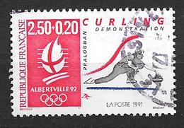 FRANCE 2680 Jeux Olympiques D'hiver  Curling. - Gebruikt