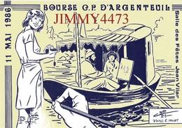 CPM - ARGENTEUIL 95 Val D'Oise - BOURSE DE CARTES POSTALES 1986 - BERG - Edit. De SIZI L'Escargot - Scans Recto-Verso - Collector Fairs & Bourses
