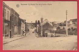 Auvelais ( La Sarthe ) - Rue De La Sarthe Et Eglise ( Voir Verso ) - Sambreville