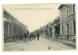 CPA 62 MAZINGARBE-LES-BREBIS ROUTE DE MAZINGARBE - France