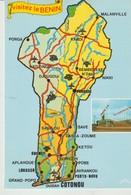 CP - PHOTO - VISITEZ LE BENIN - CARTE GEOGRAPHIQUE - PLACE DES MARTYRS - S. A. P. E. C. - Benin