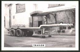 Fotografie Lastwagen-Anhänger Trailor, Sattelzug-Auflieger Vor Der Fabrik Zu Luneville - Automobili