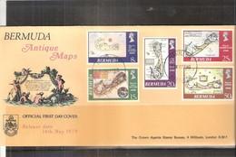 Geographie - Antique Maps - FDC Bermuda - Série Complète - Géographie