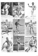 HOMMES EN MAILLOT DE BAIN CULTURISME CULTURISTE 28X19CM - Riproduzioni