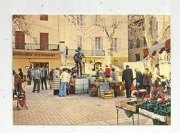 Cp, Commerce , Le Marché , 06 ,VALLAURIS ,écrite 1986 - Marchés