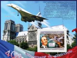 Guinea 2009 40th Anniversary Of  Concorde, Airplane , Notre Dame Paris - Guinée (1958-...)