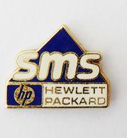 Pin's SMS Hewlett Packard Signé Pichard - 46R - Informatique