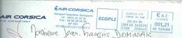 Ema Neopost HU - Compagnie Aérienne Air Corsica - Aéroport Napoléon Bonaparte - Enveloppe Entière - Marcophilie (Lettres)