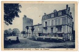 1938 AULNAY De SAINTONGE - Carte Sur La PLACE Du CHATEAU - Aulnay