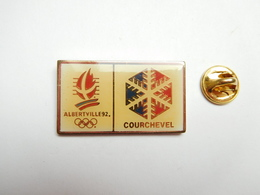 Beau Pin's , JO , Jeux Olympiques De Albertville 1992 , Courchevel , Signé COJO 1991 - Olympische Spiele