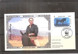 FDC Mongolie - Chevaux De Przewalski En Hologramme (à Voir) - Horses