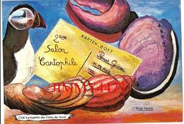 KARTEN BOST - PERROS GUIREC 22 Côtes Du Nord - 2ème SALON CARTOPHILE - Dessin Michel Le Peuch - Scans Recto-Verso - Bourses & Salons De Collections