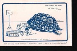 CPA747....SAVON DENTIFRICE GIBBS - Publicité
