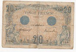 Billet De 20f  1912 (PPP18020) - 1871-1952 Antichi Franchi Circolanti Nel XX Secolo