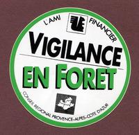 """PACA  : """" VIGILANCE EN FORET - CAISSE D'EPARGNE """" - Autocollants"""
