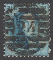 COB 15 - Belle Oblitération - 8 Barres - N°.: 24 (BRUXELLES) - 1863-1864 Medallions (13/16)