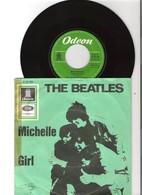 45T SP 2 Titres The BEATLES Michelle Girl Odeon O23.152 Pression Allemagne Pochette Verte - Rock