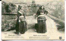 CPA - Carte Postale - France - Départ Pour Le Lavoir - Type Des Pyrénées - 1910 (M8126) - Personnages
