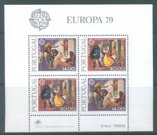 PORTUGAL - 1979 - MNH/** - EUROPA  CHEVAL POSTE MESSAGER - Mi BLOCK 27 Yv BLOC 27 - Lot 19387 - Blocs-feuillets