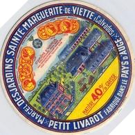 Etiquette Fromage Peiti Livarot Marcel Desjardins Sainte Marguerite De Viette Pays D'Auge Tyrosémiophile - Formaggio