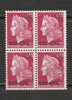 La Réunion Bloc De 4 Timbres Neufs Marianne De Cheffer Année1969 Mi RE 463 - Réunion (1852-1975)