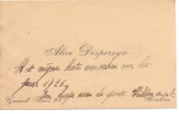 Visitekaartje - Carte Visite - Alice Dispersyn - Roulers Roeselare - Cartes De Visite