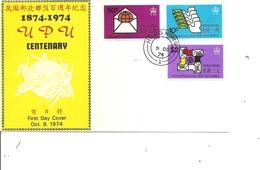 Hong-Kong ( FDC De 1974 à Voir) - Hong Kong (...-1997)