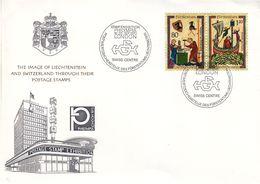 Liechtenstein - Lettre De 1970 - Oblit Spéciale Stamp Exhebition Philympia London - Armoiries - Forgeron - Liechtenstein