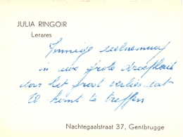 Visitekaartje - Carte Visite - Lerares Julia Ringoir - Gentbrugge - Cartes De Visite