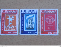 Série 3 Timbres Neuf Suriname 2006 : Cinquantenaire Du Timbre Europa - Europa-CEPT